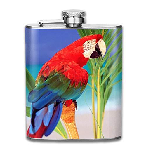 Rundafuwu Flask for Liquor7 Oz Stainless Steel Flask Hip Flask Portable Pocket Bottle Tropical...