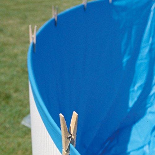 Galleria fotografica Gre FSP350 - Liner OVERLAP blu 20/100 per piscina tonda Ø 350 h 90