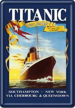 Targa in cartolina Titanic-Blu