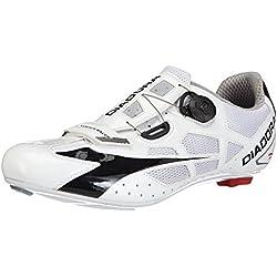 Diadora VORTEX Racer - Zapatillas de ciclismo de material sintético para mujer, Blanco (Blanco/Negro 3510), 43