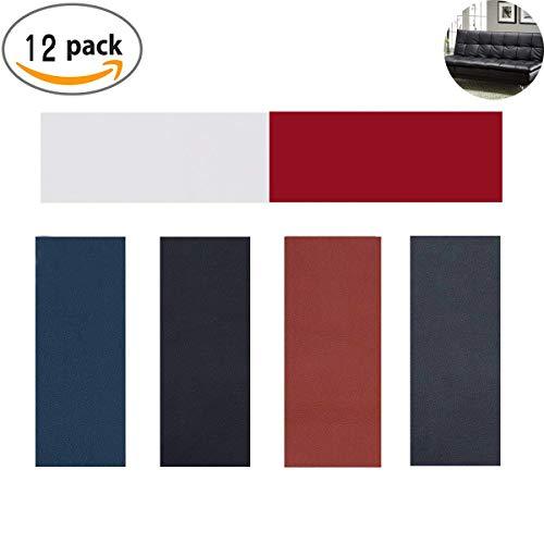 Patch-leder Tasche (Lederreparatur Patch,TANGGER 12 Stück Selbstklebender Reparaturflicken Kunstleder für Leder Sofa Möbel Autositze und Taschen,6 Farben(10*20cm))