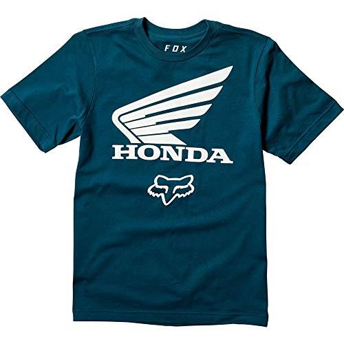 FOX Honda Jugend T-Shirt Blau/Weiß YL