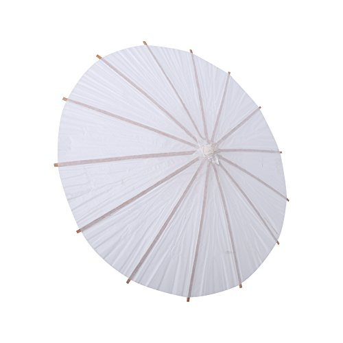 Regenschirme, Weißbuch Geölt Regenschirm DIY Chinesische Tanz Regenschirm Oriental Regenschirm Sonnenschirm mit Holzgriff für Hochzeit/Party Dekoration/Fotos/Art Display.(半径30cm)