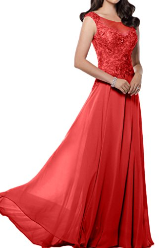 Victory bridal impression chiffon motif brautmutter long abendkleider ballkleider prom partykleider 2015 Rouge