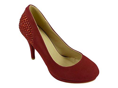 Chaussmaro - Scarpe col tacco Donna Rosso (rosso)