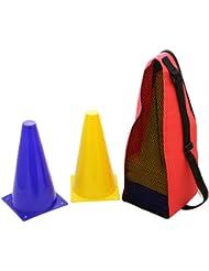 20 Conos de señalización – con bolsa de transporte – azul y amarillo