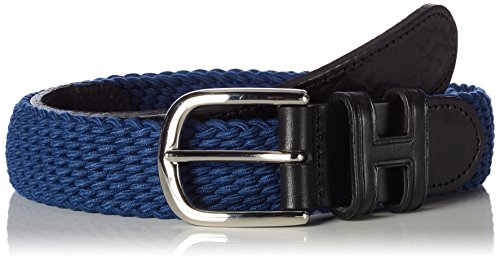 Hackett Herren Gürtel Parachute Hit, Blau (531Middle Blue 531), Keine Angabe (Herstellergröße: L)