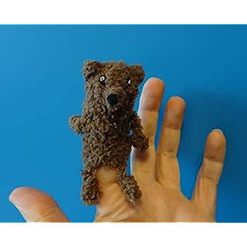 Fingerpuppe Wolf, Hund handgemacht, Geschenkidee, Puppentheater, Therapiepuppe