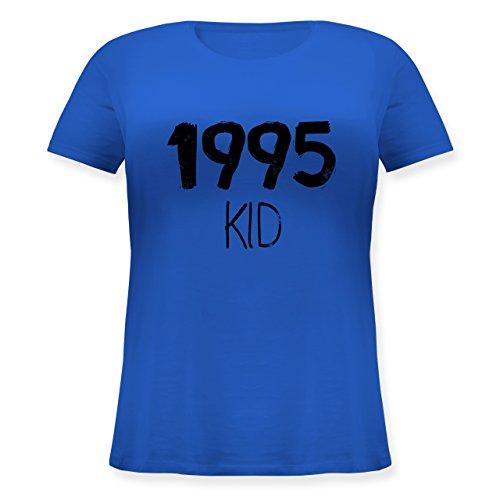 Geburtstag - 1995 KID - Lockeres Damen-Shirt in großen Größen mit Rundhalsausschnitt Blau
