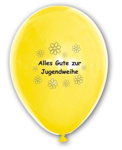 10 Luftballons kaufen – Alles Gute zur Jugendweihe, bunt gemischte Ballons mit Aufdruck, ca. 30 cm Durchmesser – Geschenk für fast Erwachsene  10 Luftballons kaufen – Alles Gute zur Jugendweihe, bunt gemischte Ballons mit Aufdruck, ca. 30 cm Durchmesser – Geschenk für fast Erwachsene 41mutHX7tkL