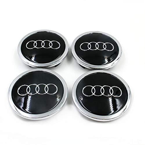 Myhonour 4X Felgendeckel Nabenkappen mit Audi Logo (1)