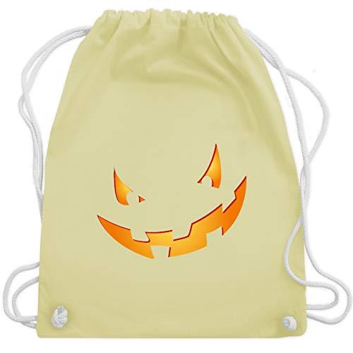 Halloween - Kürbisgesicht klein Pumpkin - Unisize - Pastell Gelb - WM110 - Turnbeutel & Gym Bag