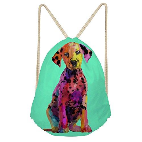 Cinch-kordelzug Schulter Tasche (chaqlin Mädchen Damen Schule Schulter Rucksack Tasche mit Kordelzug Gym Cinch Sack Marke New Puppy, damen, S-CC1368Z3, dog-1, S)