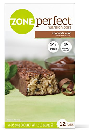 Zone Perfect Nutrition Bar, Chocolate Mint, 12 Count by Zone Perfect -