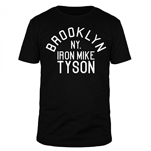 FABTEE - Brooklyn NY Iron Mike Tyson - Herren T-Shirt - verschiedene Farben - Größen S-5XL, Größe:XL;Farbe:Schwarz (T-shirt Brooklyn Schwarz)