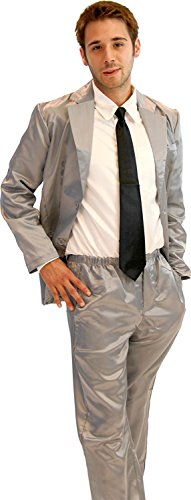 View Halloween Kostüme (How I Met Your Mother Grau Seide Pajama Suit with Weiß Shirt (Grau) (Herren)