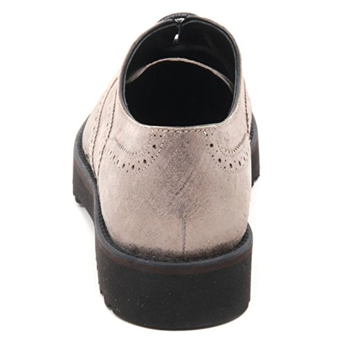 B5910 scarpa inglese donna HOGAN H259 ROUTE francesina tortora shoe woman Tortora
