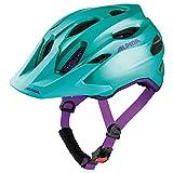 Alpina Mädchen Carapax JR. Fahrradhelm, smaragd-Violet, 51-56 cm