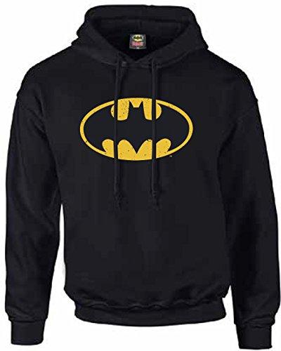 Batman-Sudadera con capucha, unisex, con logotipo de Batman negro M