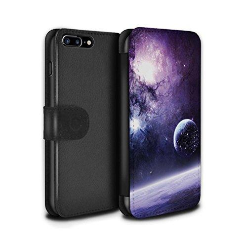Offiziell Chris Cold PU-Leder Hülle/Case/Tasche/Cover für Apple iPhone 8 Plus / Schmelzen Sonne Muster / Fremden Welt Kosmos Kollektion Planet/Mond
