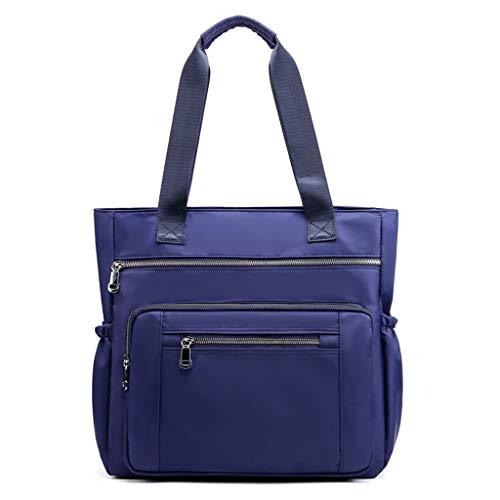TAMALLU Frauen Groß Capacity Nylon Messenger Stilvolle Einzel-Umhängetaschen Reise Einkaufen Taschen(Dunkelblau)