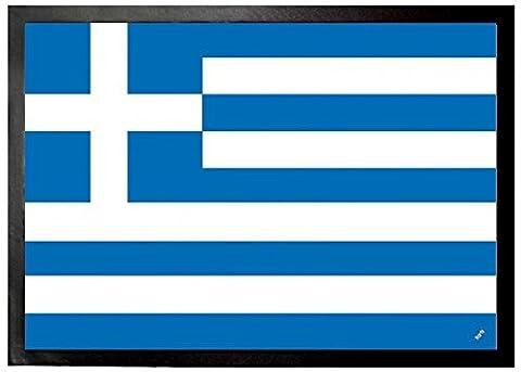 1art1 95142 Griechenland - Flaggen Der Welt Fußmatte Türmatte 70