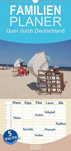 Quer durch Deutschland - Familienplaner hoch (Wandkalender 2020 , 21 cm x 45 cm, hoch): Stadt und Natur, von Nord bis Süd (Monatskalender, 14 Seiten ) (CALVENDO Orte)