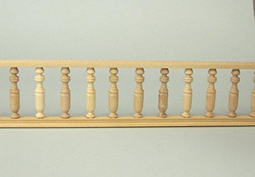 alkongeländer aus Holz für Krippe oder Puppenhaus 60 cm, naturbelassen ()