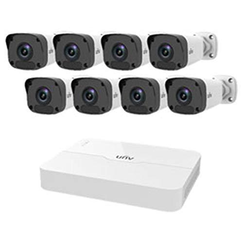 Preisvergleich Produktbild Uniview 8-Kanal NVR 2MP HD NVR301-08LB-P8 & 8 x 2 MP 4 mm Bullet IP Kameras CCTV Kit - NO HDD KIT