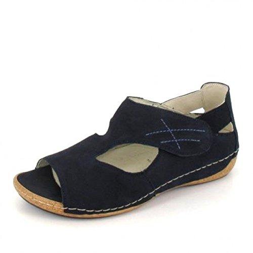 WALDLÄUFER 342004 191 Damen Sandalen - Schuhe in Übergrößen , Farben:Blau;Größe:40;Weite:H