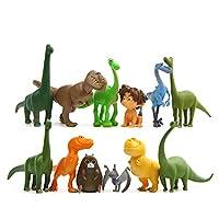 Gcroet Mini Dinosaur Figurines Colorful Miniature Artificial Dinosaur Toys Plastic Dinosaur Mini Dinosaurs Figure Toy 12Pcs