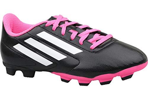 adidas Unisex-Kinder Conquisto FG J B25594 Fußballschuhe, Schwarz (Black), 38 EU -