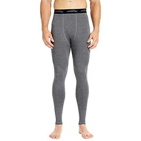 COOLOMG Kompression Hose Running Tights Länge Hosen Leggings Schnell Trocken Für Männer Youth Boy Grau