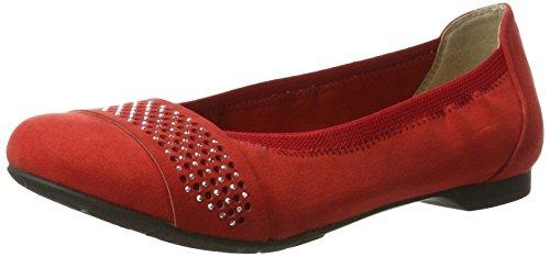 Marco Tozzi Mädchen 42401 Geschlossene Ballerinas Rot (Chili 533)