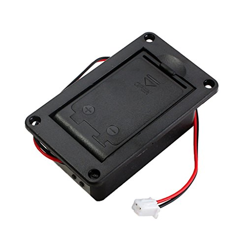 ZOUCY 1 Piece 9V Battery Holder Case Box Cover For Guitar Bass Active Pickup Connector