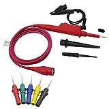 Sharplace Oszilloskop Sonde Stift Multimeter Stromspannung Test Kabel,300MHz +Kfz Test sonden Zubehör Prüfspitze Set Oszilloskop Zubehör