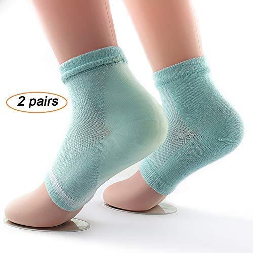 LABOTA 2 Paar feuchtigkeitsspendende Gel Fersensocken Füße Skin Repair Behandlung Männer und Frauen Foot Pain (grün)- Einheitsgröße -
