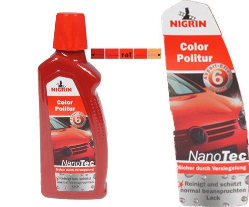 Nigrin NanoTec Color Auto Politur 3in1 Politur,Versiegelung,Glanz (Rot)