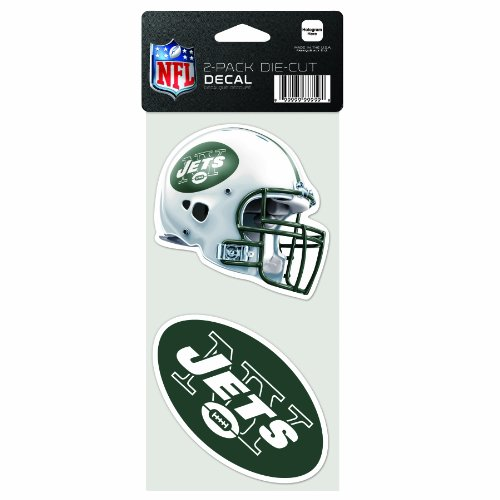 Wincraft NFL 2-teiliges gestanztes Aufkleber, 10,2 x 20,3 cm, New York Jets