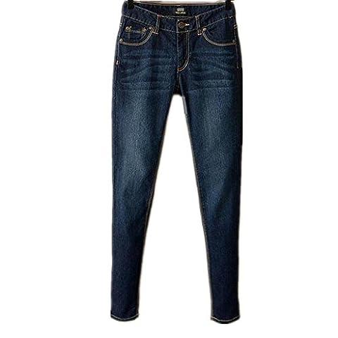Byjia Jeans Curvy Base Bootcut Femmes Détruire Skinny Déchiré Denim Bleu Jeans/Pantalons Jambe Droite Power Pocket Classic .