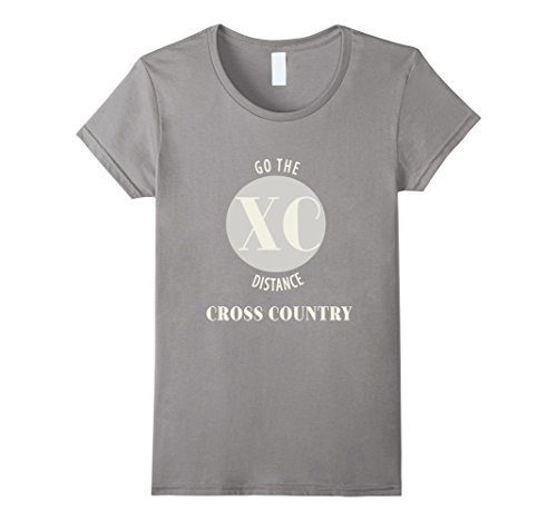 Womens Go The Distance - Cross Country T-Shirt XL Slate (Fitted T-shirt Womens Cross)
