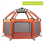 Baby Play Pens - Exqline Pop-n-Play Baby Playpen [2018 UPDATED NEW VERSION], Foldable