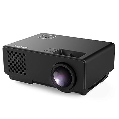 Beamer, DBPOWER RD810 LED Minibeamer, Multimedia Heimkino LCD Video Projektor Beamer unterstützt 1080P HDMI USB SD Karte VGA AV, Schwarz