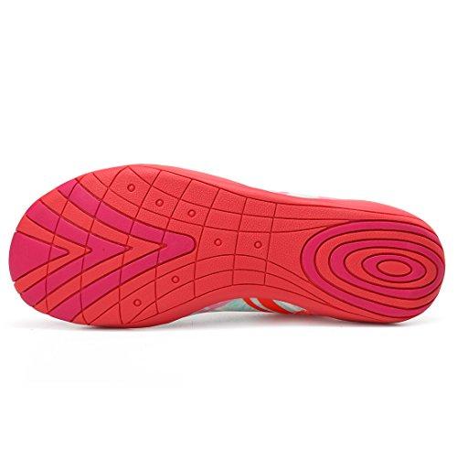 Sixspace Unisex Strandschuhe Aquaschuhe Schwimmschuhe Badeschuhe Wasserschuhe Surfschuhe für Damen Herren Kinder Rot