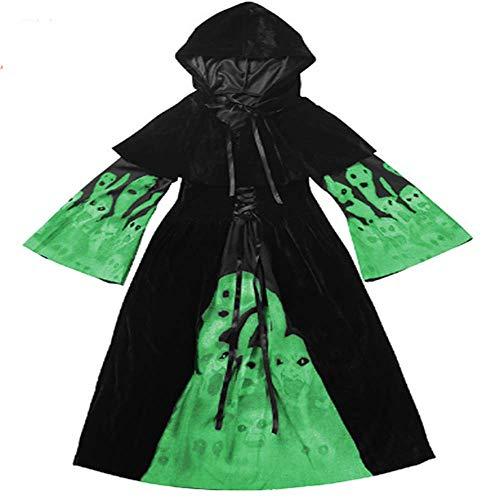 GHLLSAL Halloween Scary Schädel Kostüme Mädchen/Kinder Schädel Kostüm -