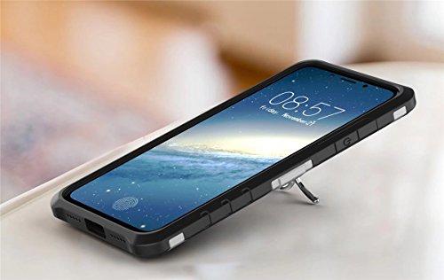 iPhone X Handycover, MOONMINI für iPhone X 3D Wheel Gear Rotating Stand 2 in 1 Dual Layer Hybrid Hülle weich TPU Stoßfest Anti-Kratzer Schutzhülle Handycover mit Kickstand Grau Schwarz
