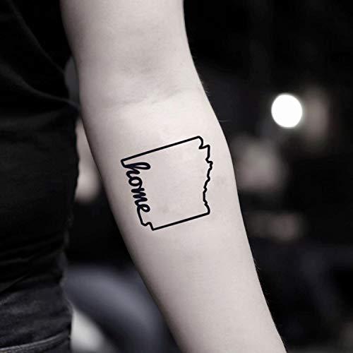 Arkansas temporäre gefälschte Tätowierung Aufkleber abwaschbares Tattoo (Set von 2) - www.ohmytat.com -