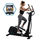 Capital Sports Helix Pro • Cross Trainer • Heimtrainer • Bluetooth • Kinomap-Applikation • MagResist-Magnet-Widerstand • 20 kg Schwungmasse • 12 Trainingsprogramme • robust • Bodenrollen • schwarz