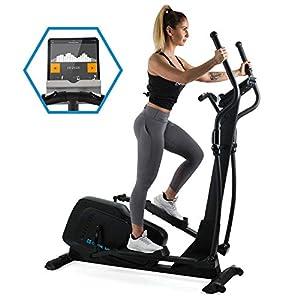 Capital Sports Helix Track • Cross Trainer • Bluetooth • magnetisches Bremssystem mit 32 Leveln • App-Integration • Option bis 27 kg Schwungmasse • Tablet-Halterung • Pulssensor