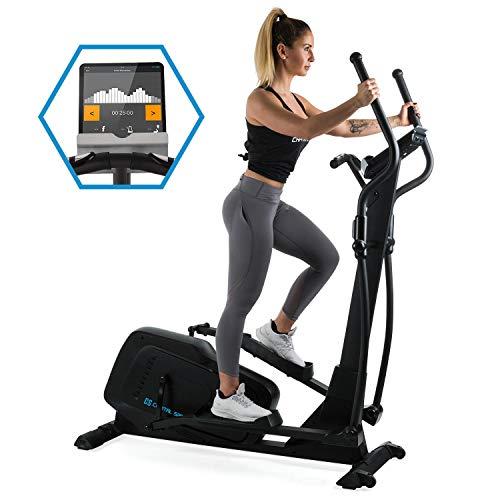 Capital Sports Helix Pro Elliptical Bike • Bluetooth • Training Computer • Kinomap App • 12 Programs • Flywheel • SilentBelt • Transport Wheels • User Weight: 130 kg